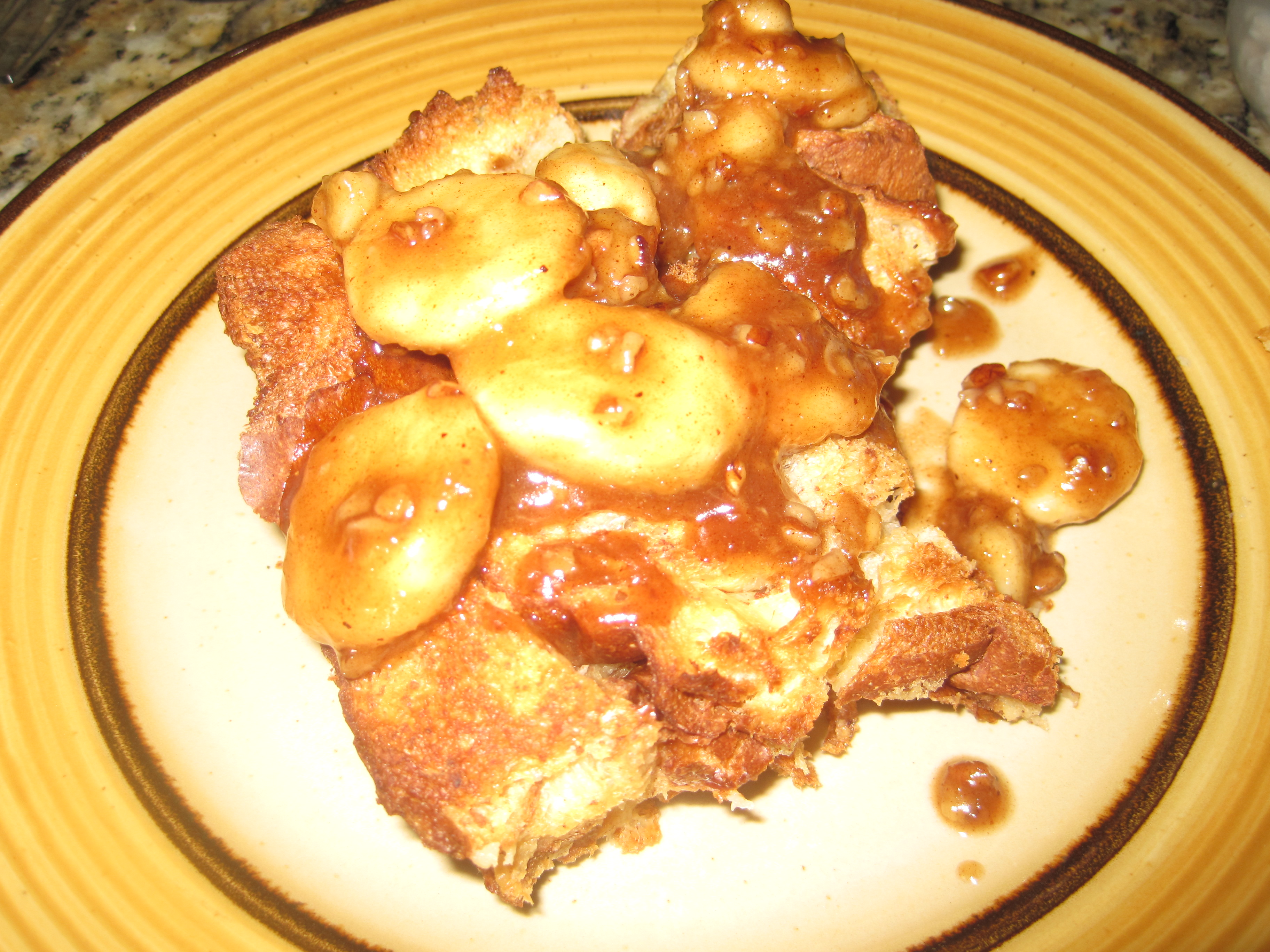 Overnight Bananas Foster French Toast |