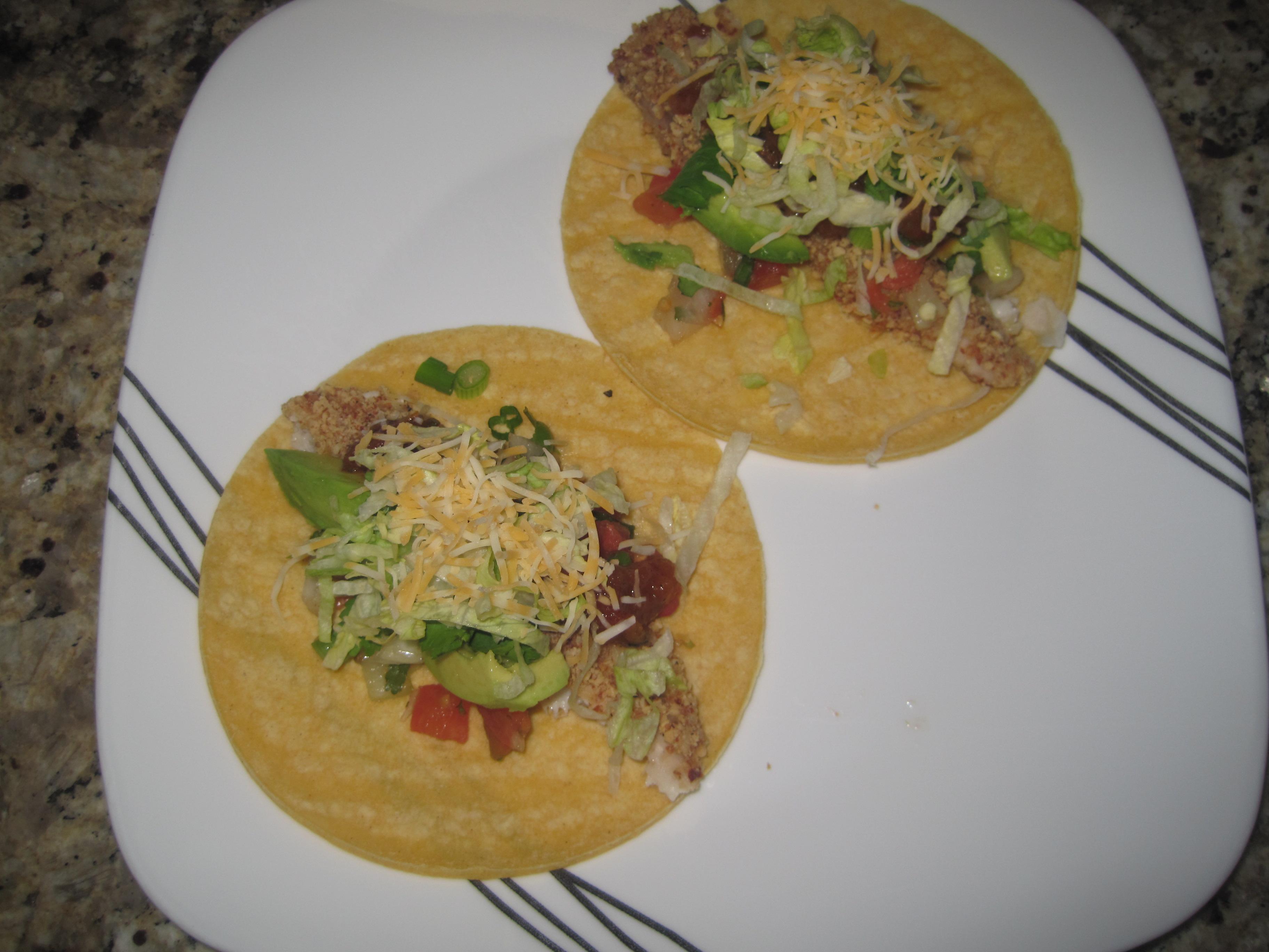 parmesan crusted tilapia tacos